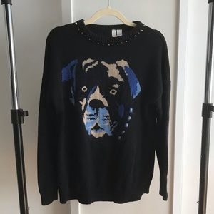 Pit bull studded sweater